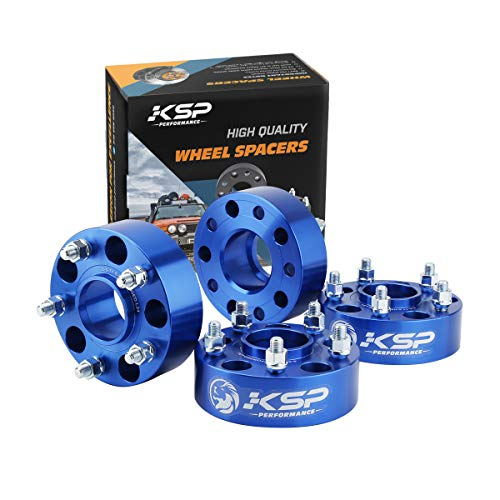 KSP 5X5 Wheel Spacers for JL WK2 JT,1.5 inch Hubcentric Spacers with M14x1.5 Studs 71.5mm Bore for 2018-2019 Wrangler JL,2011-2019 Grand Cherokee WK2, Dodge Durango, 4pcs (5x127mm)