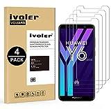 ivoler [4 Unidades] Protector de Pantalla para Huawei Y6 2018 / Huawei Honor 7A, Cristal Vidrio Templado Premium
