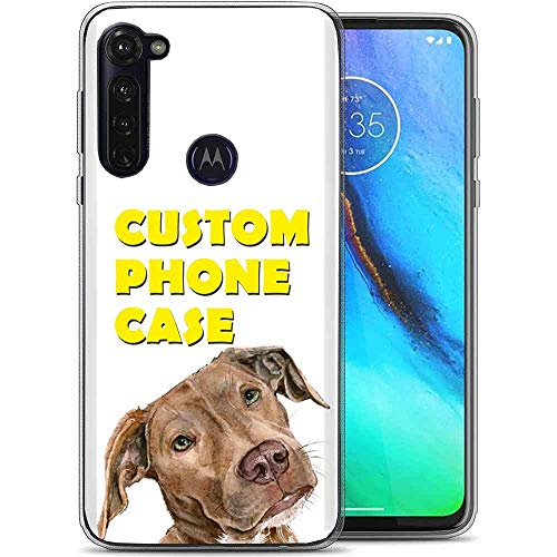 Naked Shield Personalize Custom Clear Flex Gel Phone Case Compatible for Motorola Moto G Stylus,Your Best Friend Photo Phone Case,Light Weight, Unbreakable, Flexible, Surround Edge Protection