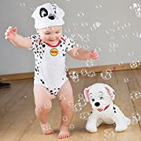 amscan 101 Dalmatians Bodysuit and Hat, 3-6 Months, 2 Pcs. Disfraces, Multicolor, Size-3-6 Unisex Niños
