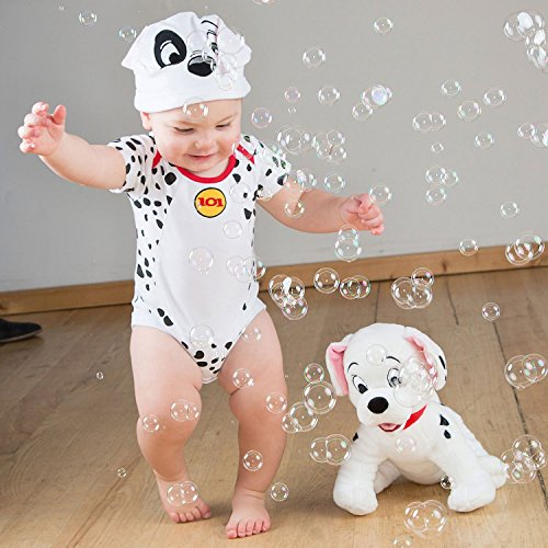 amscan 101 Dalmatians Bodysuit and Hat, 3-6 Months, 2 Pcs. Disfraces, Multicolor, Size-3-6 Unisex Niños