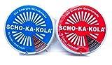 SCHO-KA-KOLA Schokolade gemischt zum Probieren Vollmilch + Zartbitter je 100g