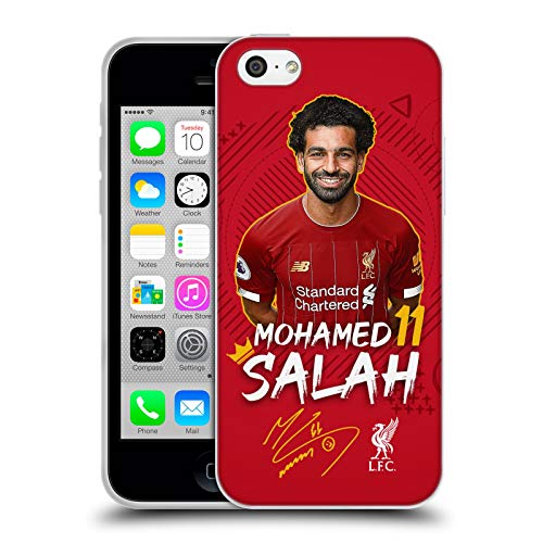 Head Case Designs Oficial Liverpool Football Club Mohamed Salah 2019/20 Primer Equipo Grupo 1 Carcasa de Gel de Silicona Compatible con Apple iPhone 5c