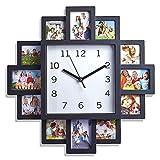 YUHT Bilderrahmen Uhr,Wanduhr mit Bilderrahmen quadratische Wanduhr mit 12...