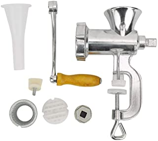 Manual Meat Mincers, Stainless Steel Meat Grinder with Stuffer Tubes Hand-Operated Grinding Machine for Mincing Grinding M...
