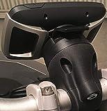 Soporte compatible con TomTom Rider 410/450/550 para manillares de 20-22 mm/28-32 mm 20-22 mm Negro