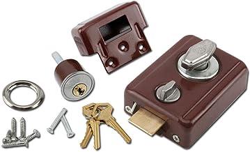 Vintage kamerdeurslot, buitendeurslot, veiligheidsslot, 35-50mm, universeel type, met sleutel
