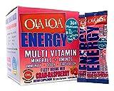 Ola Loa ENERGY Multi Vitamin Drink Mix w/ Minerals & Aminos for Immunity, Detoxification, Circulation Cran-Raspberry flavor, 30 packets
