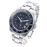 WANCHER メンズ腕時計 ASTRONAUT2 BLACK ASTRONAUT2/アストロノート2 ブラック 特殊24時間表示文字盤 GMT機械式自動巻 黒【 ワンチャー ウォッチ 】
