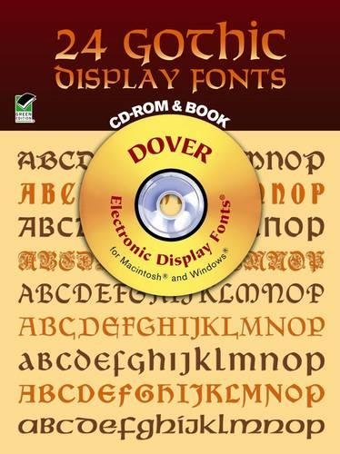 24 Gothic Display Fonts (Dover Electronic Display Fonts Series)
