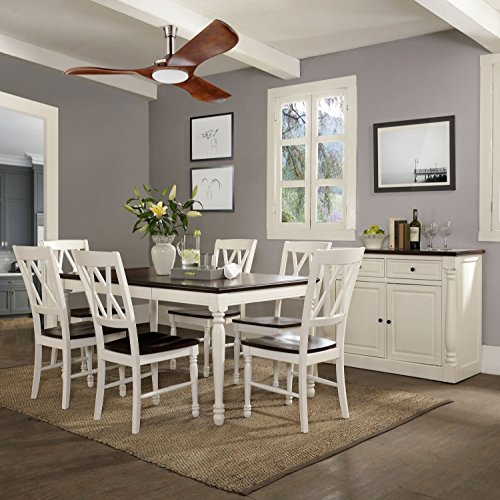 Crosley Furniture Shelby 7-Piece Dining Set with Table, Extension Leaf, and 6 Chairs, Distressed White