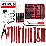 JOJOY LUX 41 Pack Auto Trim Removal Tool Set for Car Audio Dash Door Panel Window Molding,Auto Clip Pliers Fastener Remover Pry Tool Kit, Car Upholstery Repair Kit, Prying Tool Kit with Zipper Bag