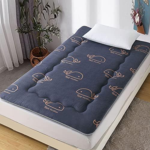 LIMIAO Colchón de futón, niños Piso Tumbona Cama colchón Tatami colchón para Dormir, Plegable Rollo de colchón de Piso japonés, colchón de Dormitorio para niños y niñas,3,90 * 200cm