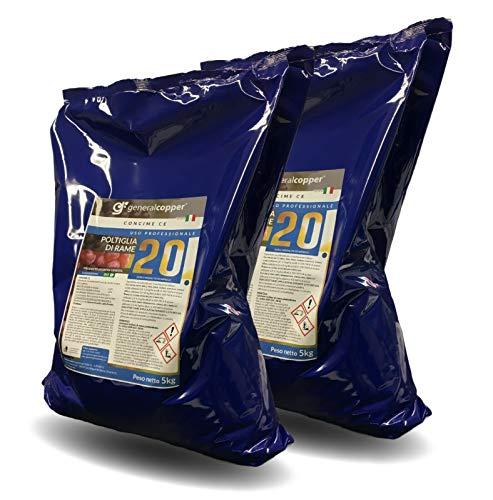 Giemmegi POLTIGLIA di Rame 20% (Solfato di Rame NEUTRALIZZATO) CONCIME CE 10 kg (5kgx2)