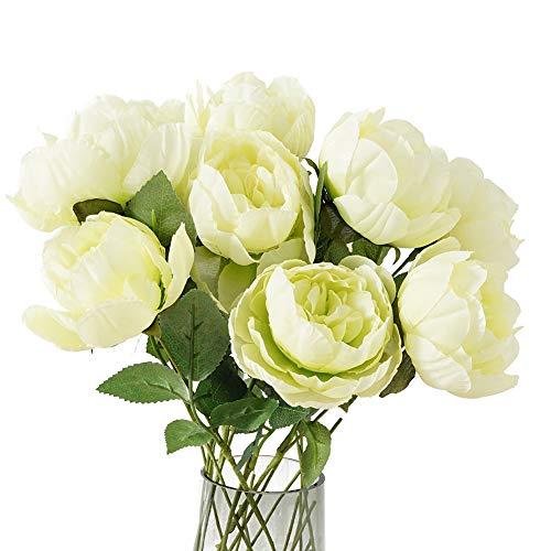 (Kupon DISKON 40%) Bunga Sutra Peony Buatan 10 pcs $ 7.19