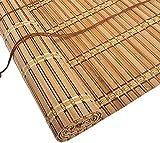 SWB Blinds Bamboo Rullo Blind Opaque, Bamboo cieco a rulli da Finestra di Alta qualità per all'Interno, Protezione Solare Privacy Scherm Rullo Blind, Filtro Leggero Tende Roll-up, per Studio