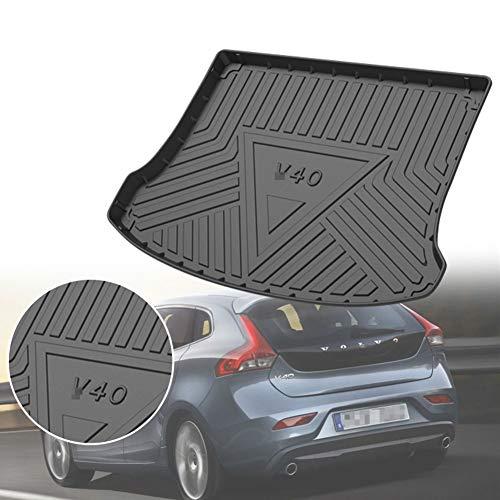 BNHHB Alfombrillas para Maletero para Coche para Volvo V40 2013-2019, Impermeable Antideslizante Goma Estera del Coche Alfombra Protectora, Accesorios