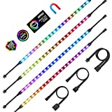 PC Addressable RGB LED Strip Lights Aclorol Magnetic LED Light Strip for PC Case...