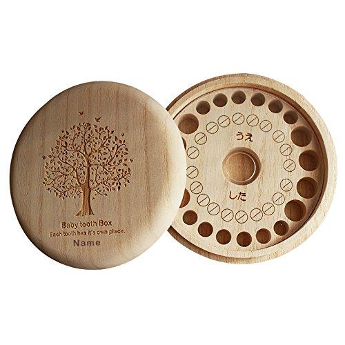 「名入れ 樹」乳歯ケース 乳歯入れ 乳歯ボックス 桐箱 子ども 歯入れ 箱 入れ物 ボックス 木 日本製 天然 桐