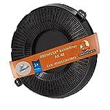 DREHFLEX - AK48 - Kohlefilter/Aktivkohlefilter - passend für Bauknecht/Whirlpool/Ikea - passend für 482000095104 480122101262 // AMC037 AMC 037