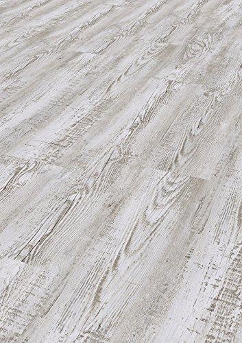 Bodentrend Vinyl Galant zum Kleben, 2 mm Stärke, 0,30 mm Nutzschicht - waterproof - 1 Paket (3,40 m²) (Bianco Vintage)