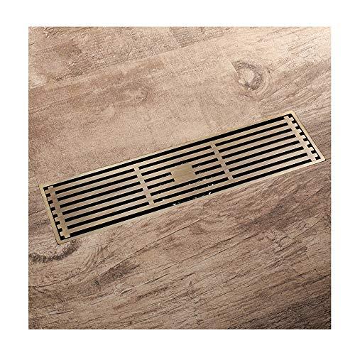 GUANGHEYUAN-J Handheld Desagües rectangulares de Bronce Antiguo Desagüe en el Piso Baño Ducha Cubierta de desagüe Cobre Latón Colador de Filtro de Cocina para el baño