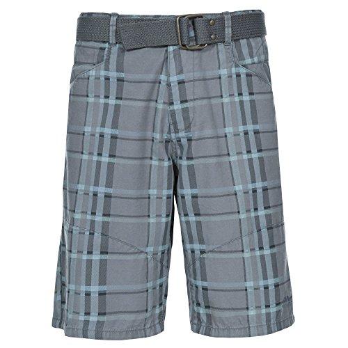 Trespass Heren Penza Geweven 100% Katoen Platte Taille Knop Shorts