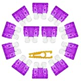 60 Pack 3 Amp ATC Fuse Replacement Blade Style Standard Size 3A Fuses with Fuse Puller for Automotive Car Truck Boat