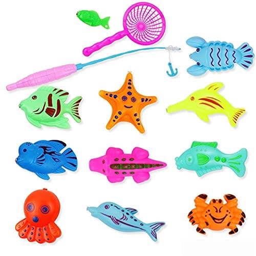 XWYWP Juego de Pesca, Juguete de Pesca magnética para niños Padre-niño Juguetes interactivos Juguetes de Agua Juguetes para niños Peces para niños Juguetes de baño para bebés Juguetes al Aire Libre