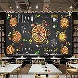 ZLYYH 3D Wallpaper Wandbild,Handgemalte Abstrakte Pizza