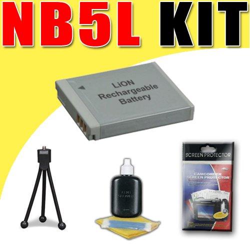 NB5L Lithium Ion Replacement Battery for Canon Powershot SX230HS SX210IS SX200IS Digital Cameras DavisMAX Bundle