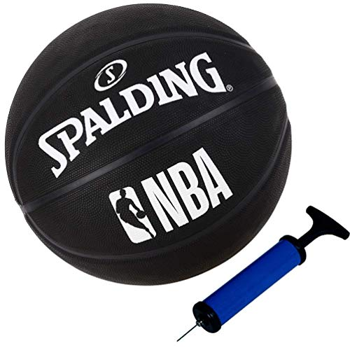 Spalding Ball Basketball NBA Outdoor Street Black schwarz Größe 7 + Ballpumpe