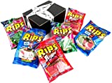 RIPS Licorice 3-Flavor Variety: Two 4 oz Bags Each of Strawberry/Green Apple, Rippin' Red, and Watermelon in a BlackTie Box (6 Items Total)