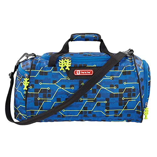 """Step by Step Sporttasche """"Future Robot"""", blau, mit Nasswäschefach, Abnehmbarer Tragegurt, Verstellbarer Schultergurt, für Jungen 1. Klasse, 13L"""