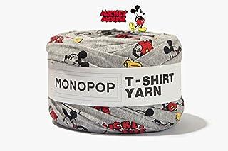 MONOPOP T-SHIRT YARN PRINT モノポップ Tシャツヤーン 柄 ◆KOKOKOREA (MICKEY GRAY) [並行輸入品]