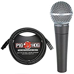 Frequency response tailored for vocals, with brightened midrange and bass rolloff to control proximity effect Effective built-in spherical wind and pop filter. Frequency response: 50 to 15,000 Hz Pneumatic shock-mount system cuts down handling noise ...