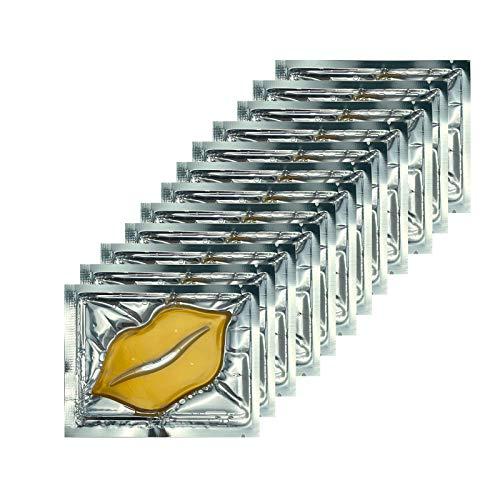 Jakuva 30 Pack 24K Gold Collagen Lip Mask Crystal Lip Pads For Remove Lines, Moisturizing, Anti-Wrinkle, Anti-Aging, Nourishing & Hydrating Lips