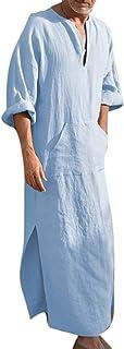 keepwo Men Moroccan Robe Desert Dress Dress Arabia Mens Long Shirts