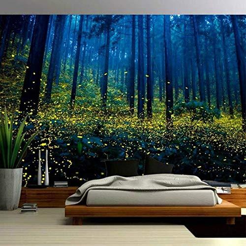 Tapiz de arte de árbol de bosque de sol, tapiz de montaje en pared, tapiz de puesta de sol, camino, paisaje natural, decoración del hogar, tapiz a3 180x200cm
