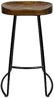 NUBAO Tabouret Bar  Chaise Comptoir  Restaurant  Cuisine Chaise Salle Manger  Panneau Bois Massif Tabouret Haut Fer Tailles Adapte pour Comptoir Bar 75-110cm