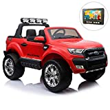 giordanoshop Macchina Elettrica per Bambini 2 posti 24V Ford Ranger Luxury Rossa
