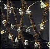 RTUTUR Luces de Vacaciones de Cuerda de luz de Metal, Luces Hadas Decorativas lámparas de Globo Cadenas batería eléctrica LED de Hadas