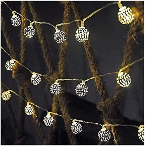 RTUTUR Metal Light String Holiday Lights, Lights Fairy Decorative Globe Lamp Strings Battery Powered LED Fairy Lights