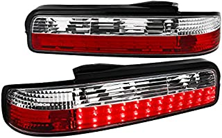For Nissan 240SX S13 Coupe 2 Door LED Tail Lights Rear Parking Lamps Red Clear