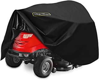 LadyRosian Riding Lawn Mower Cover,600D Heavy Duty Polyester Oxford Lawn Mover Tractor Cover, 100% Waterproof UV Protectio...