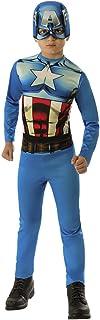 Avengers - Disfraz de Capitán América para niño, talla infantil 5-7 años (Rubie'S 610759-M)
