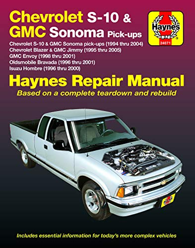 Chevrolet S-10 & GMC Sonoma Pick-Ups (94-04). Includes S-10 Blazer & GMC Jimmy (95-05), GMC Envoy (98-01)…