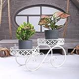 MEARCOO Soporte de Flores de Metal, Maceteros Porta Macetas Metal, Macetas Pedestales, Metal Flores Estante Exhibición para Jardín Dormitorio Sala de Estar Oficina Balcón
