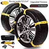 Snow Chains for SUV Car Anti Slip Adjustable Universal Emergency Thickening Anti Skid Tire Chain,Winter Driving Security Chains,Traction Mud Chains for Tire Width 7.2-11.6',10 Pcs