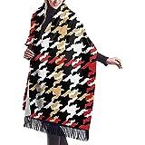 Bufanda grande Pata de gallo de Grunge Pied De Poule Chal Abrigo Bufanda cálida de invierno Capa Bufandas de gran tamaño Manta de viaje Bufanda para mujer
